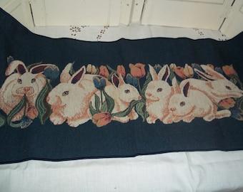 Bunny Table Runner Etsy