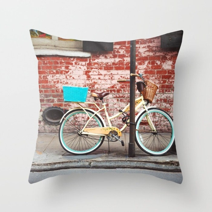 Bicycle Throw Pillow New Orleans Decor Bike Decorative