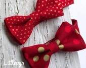 red and gold bow tie, red bow tie, christmas bowties, red and gold ties, mens red tie, boys red bowtie, father and son christmas ties
