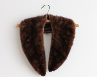 1950s Caoba Mink Collar