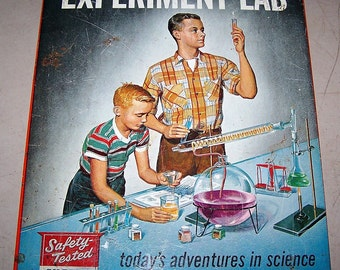 Vintage 1950's Gilbert Chemistry Experiment Lab No. 12052