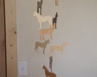 Wooden Horse Mobile