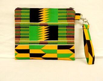African Kente Print Clutch/Bag/Pouch