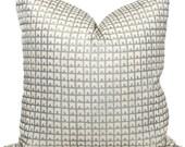China Seas Fez Silver on Tint Pillow Cover, Quadrille Square, Eurosham or Lumbar pillow Accent Pillow, Throw Pillow, Toss Pillow
