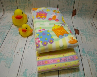 Baby Burp Cloths-Precious Little Ones (Set of 2)