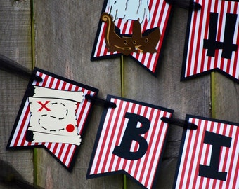 Pirate Birthday Party Banner, Pirate Theme, Pirate 1st Birthday, Pirate Birthday Party, Pirate Baby Shower