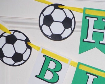 Soccer Birthday Party Banner, Sports Banner, Soccer Theme