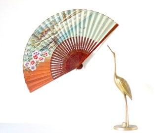 Antique Paper Fan - Kitsch Souvenir