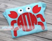 Made for Monogram Crab Applique Design Machine Embroidery INSTANT DOWNLOAD