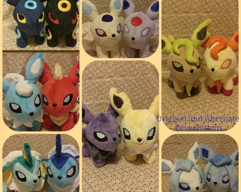 CHOOSE Eeveelution plush, Eevee Jolteon Flareon Vaporeon Espeon Umbreon Glaceon Leafeon Sylveon