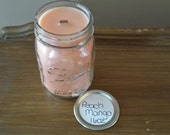 "16oz Wood Wick Soy Candle PEACH MANGO ""Candles for St. Christopher's Children's Hospital"""