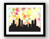 atlanta skyline print | geometric triangle atlanta art | atlanta print | atlanta, georgia print | georgia decor