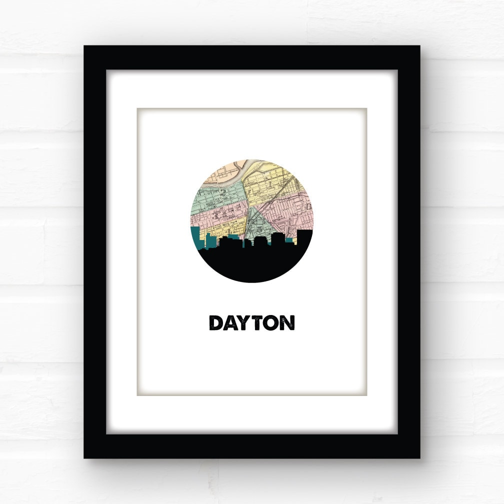 home decor stores dayton ohio dayton ohio home decor ohio print city skyline prints 12465
