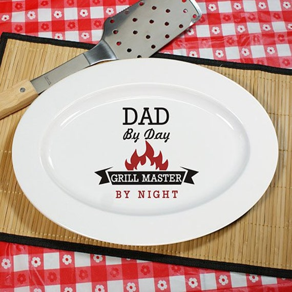Personalized Grill Master Platter, for dad, grill, bbq, Father's Day - U1036217
