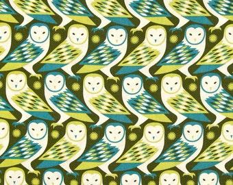 54032 - Joel Dewberry Birch Farm collection PWJD092 - Barn Owl in Sage color - 1 yard