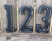 Set of 12 Chalkboard Table Numbers Name Cards Rustic Vintage Painted Distressed Shabby Chic Wedding Chalkboards