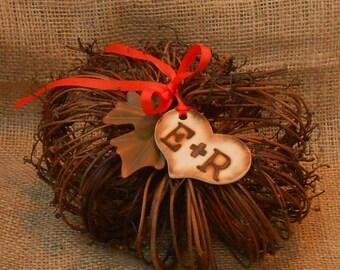 Ring Bearer Pillow / Fall Ring Bearer Pumpkin / Grapevine Pumpkin / Wedding Ring Bearer Pillow Alternative / Fall Wedding Decor / Pumpkin