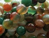 Striped Agate 6mm natural round gemstone beads for your art or jewelry projects (PH1023)- 20 beads- ship from Canada