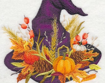 Witches Bounty Hat Embroidered Flour Sack Hand/Dish Towel
