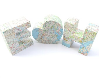 Personalized Weddding Gift Custom Map Themed Present for Couples Travel Home Decor Table Centrepiece Decoration Party Ornament Anniversary