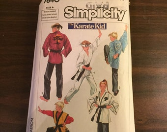 Simplicity Costumes 7640 - Size A - Boy and Girl Kimono - Karate Kid - Sewing Pattern