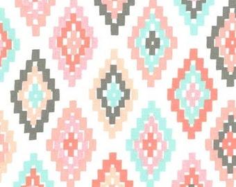 Aztec Minky Baby Blanket, Baby Girl Nursery Bedding, Tribal Crib Bedding, Girl Baby Shower Gift, Southwest Arrow Flight Cornered