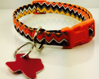 Pumpkin Smiles Dog Collar - Adjustable
