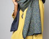 Boho Scarf  / Floral Scarf / Cotton Satin Scarf : Nature Touch Collection