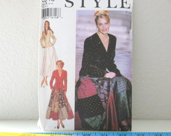 Style 2543 Flared Skirt Sewing Pattern UNCUT Factory Folds Size A 8 10 12 14 16 18 Long skirt with Jacket from The Back Part of the Basement