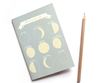 SALE Phases of the Moon A6 Notebook