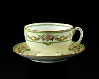 """Antique Mintons Bone China """"Stratford"""" Coffee Cups and Saucers - Set of 8"""