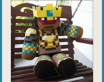 MARKED DOWN!  King PauseUnpause Minecraft Plushie