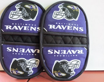 Ravens Mini Microwave Mitts-Oven Mitts-Pinchers-Free Shipping Etsy