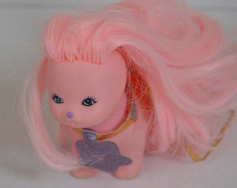 Mattel Lady Lovely Locks Silkypup Pink Dog Lady Lovelylocks 1986