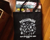TOOLS of the trade salem witchcraft TOTE BAG recycled materials