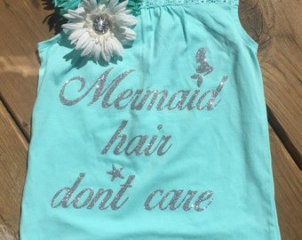 Mermaid hair Dont Care DECAL ONLY