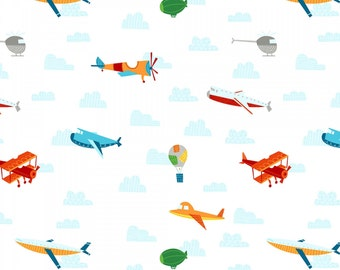 On the Go - White Planes by Arrolynn Weiderhold from Wilmington Prints