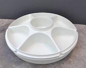 Vintage Tupperware Veggie Dip Divided Relish Tray