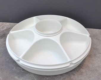 Vintage Tupperware Veggie Dip Divided Relish Tray