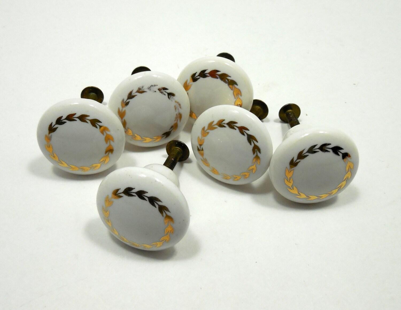 Porcelain Cabinet Furniture Knobs Porcelain Pulls By