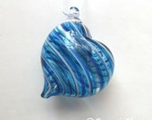 Assorted Blue Stripe Heart Ornament : DISASTER RELIEF