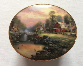 Thomas Kincade - Art - Music Box - Signed - Collectible