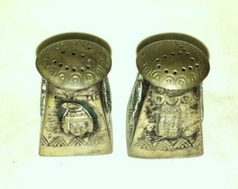 Vintage Salt and Pepper Silverplate Tiny