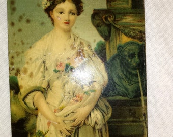 rare Antique Tin Lithograph Tintype Size Made In Germany