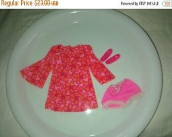 Valentine SALE Vintage Barbie Mattel , Talking P.J. Doll , Original Outfit 1969 , Pink Mini Dress