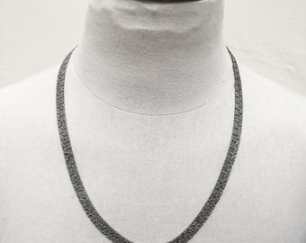 Vintage 1970s Silver Nugget Necklace