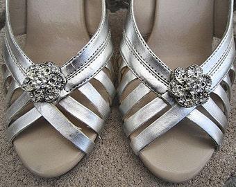 Bridal Rhinestone Shoe Clips Wedding Shoe Accessory -- YVONNE