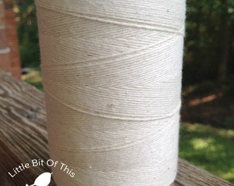 BULK • 800 Yards Total • Solid  Baker's  Twine / String • 100% Cotton • Eco Friendly •Wrap • Bakery String  • Made In USA • Rustic White