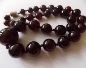 Cherry Amber Bakelite Art Deco Vintage Bakelite France Cherry Necklace SPLENDID
