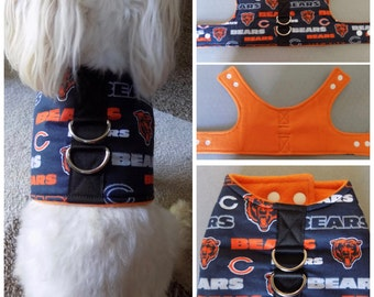 Chicago Bears Football  Dog Vest Harness for Small Breed Dogs or Cats